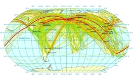 International Aviation CO2 emissions by routes